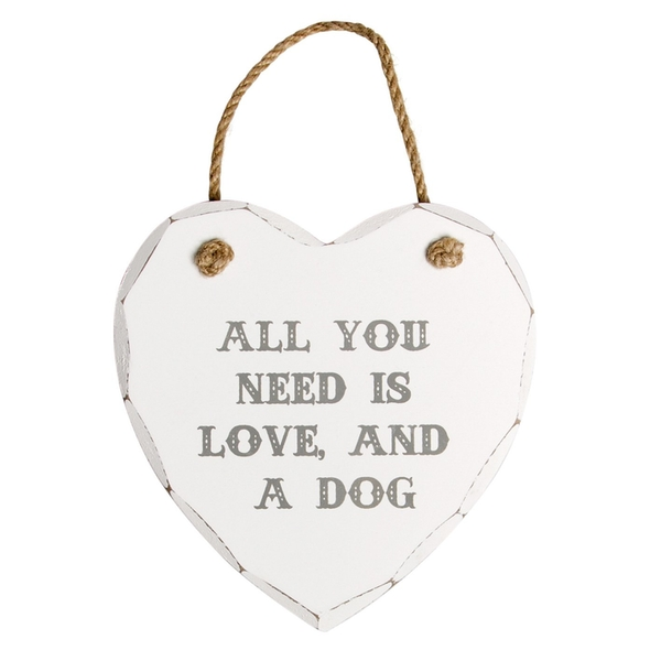 Sass & Belle All You Need Is Love And A Dog Heart Plaque