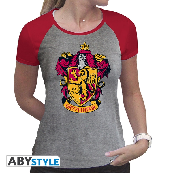 Harry Potter - Gryffindor Women'S X-Large T-Shirt - Grey/Red