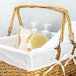 Willow Storage Basket with Cotton Lining Brown | M&W - Image 5