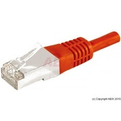 Connect 0.15 m Copper RJ45 Cat.6a F/UTP Patch Cord Red