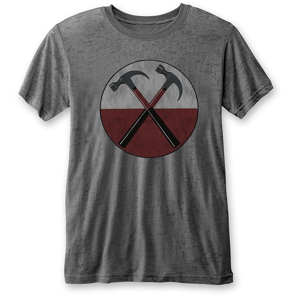 Pink Floyd - The Wall Hammers Unisex Large T-Shirt - Grey