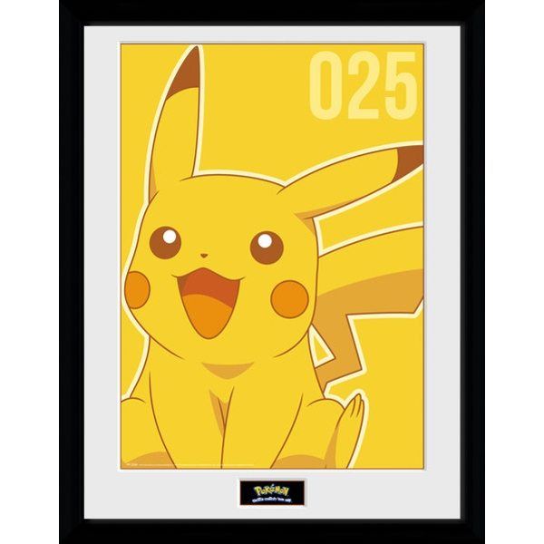 Pokemon Pikachu Mono Collector Print