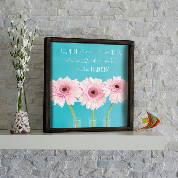 KZM593 Multicolor Decorative Framed MDF Painting