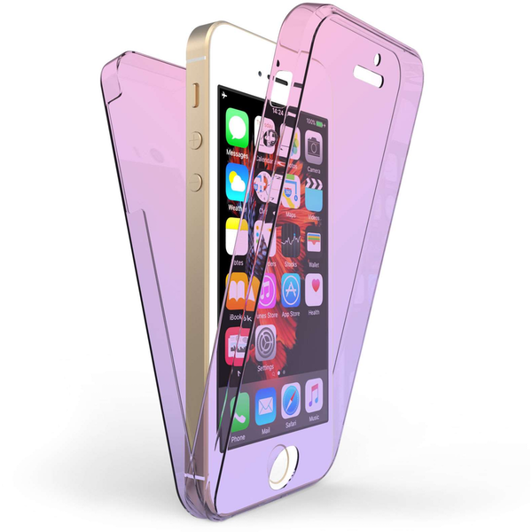 Compare prices with Phone Retailers Comaprison to buy a Apple iPhone 5 / 5S / SE Full Body 360 TPU Gel Case - Pink / Purple