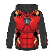 Iron Man - Sublimation Men's Medium Full Length Zipper Hoodie - Multi-colour