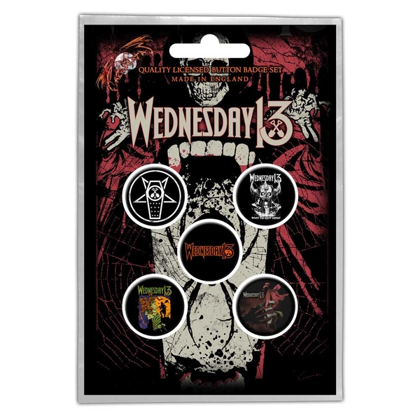 Wednesday 13 - Condolences Button Badge Pack