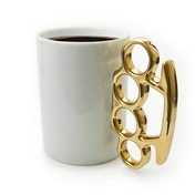 Thabto Knuckle Duster Mug White + Gold