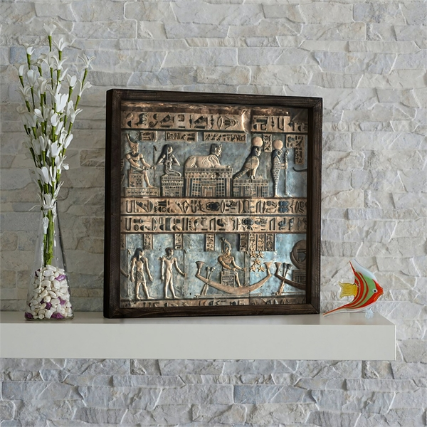 KZM615 Multicolor Decorative Framed MDF Painting
