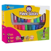 Little Brian Paint Sticks Assorted Colours - Pack of 24