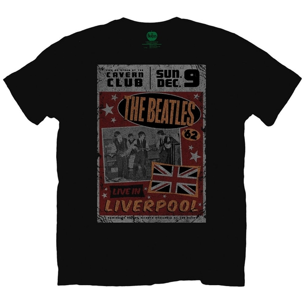 The Beatles Live in Liverpool Men's Medium T-Shirt - Black