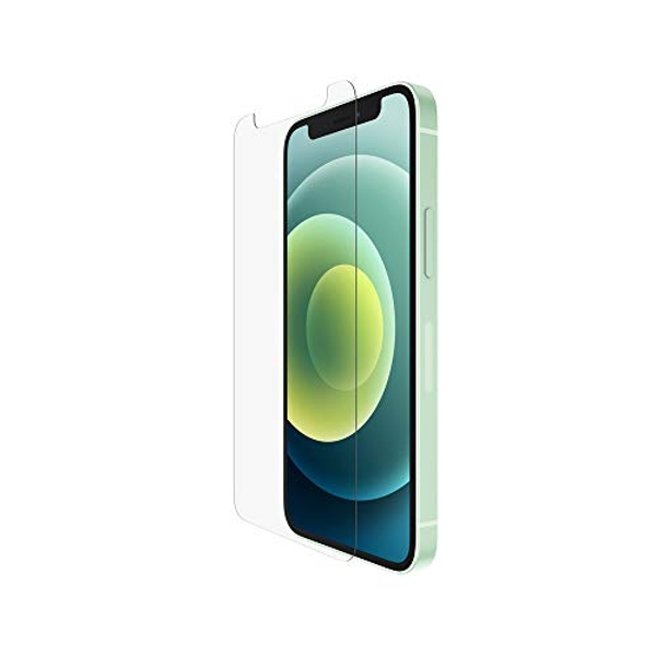 Belkin iPhone 12 mini Screen Protector TemperedGlass Anti-Microbial (Advanced Protection + Reduces Bacteria on Screen Up to 99%)