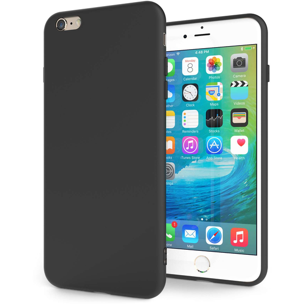 Apple iPhone 6S Plus TPU Silicone Gel - Solid Black Matte