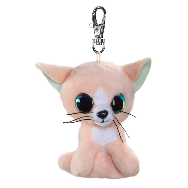 Lumo Stars Mini Keyring - Cat Peach Plush Toy