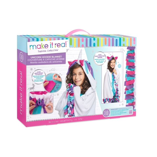 Make It Real - Unicorn Hoodie Blanket Making Kit