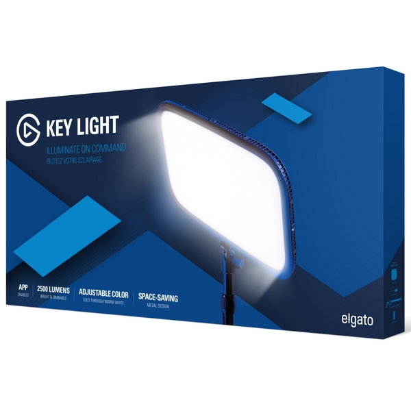 Elgato Key Light Professional Studio and Streaming Lighting (10GAK9901)