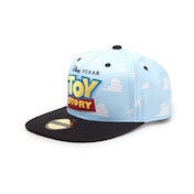 Disney - Embroidered Logo With All-Over Clouds Unisex Snapback Baseball Cap - Blue/Black