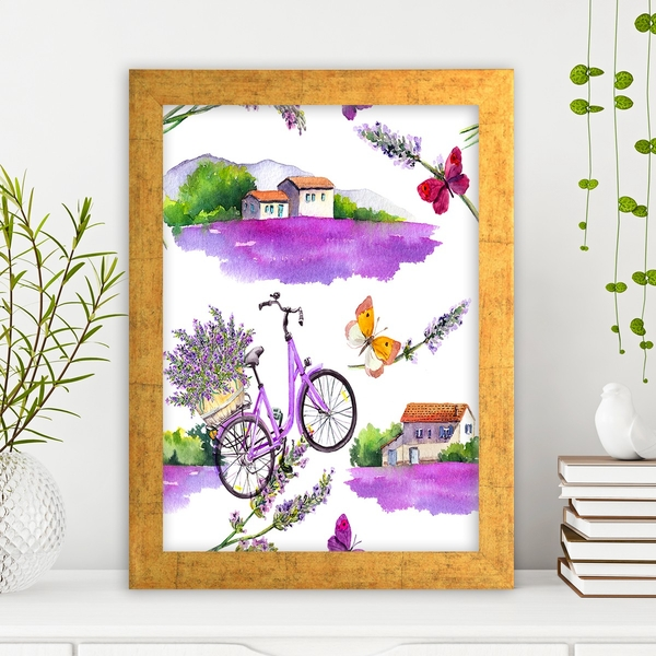 AC1040442349 Multicolor Decorative Framed MDF Painting