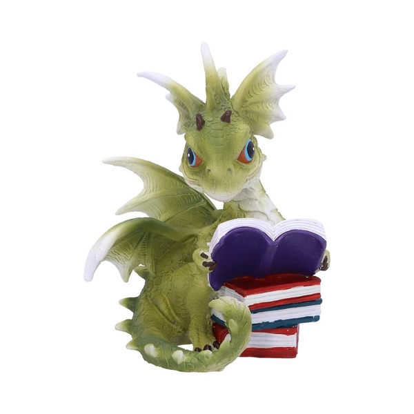 Dragon Tales Green Dragon Reading Figurine