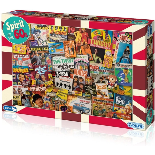 Gibsons Spirit of the 60's Jigsaw Puzzle - 1000 Pieces
