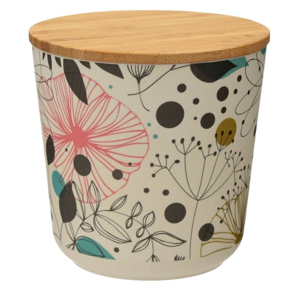 Wisewood Botanical Bamboo Composite Small Round Storage Jar