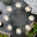 8 Tea Light Candle Holder | M&W Chrome - Image 2