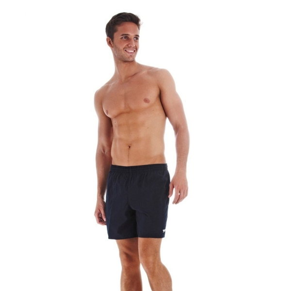 Speedo Mens Solid Leisure Shorts Small Navy