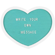 Turquoise Heart Letter Board