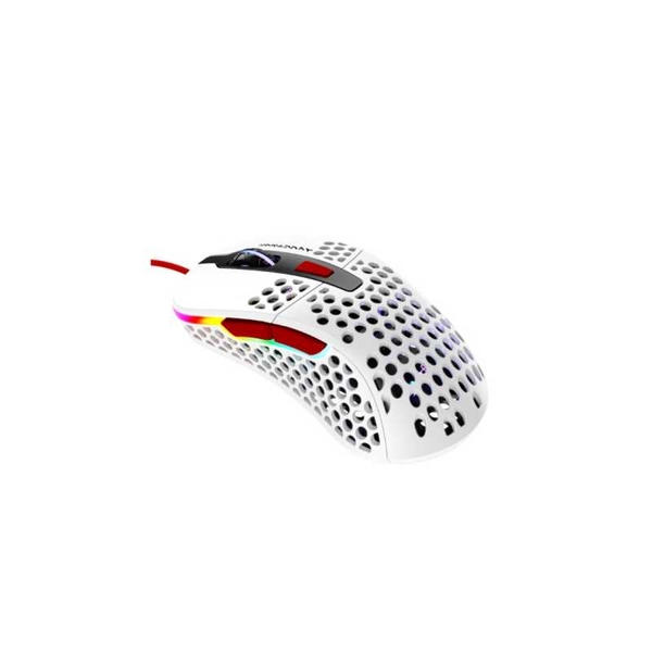 Image of Xtrfy M4 RGB Wired Optical Gaming Mouse, USB, 400-16000 DPI, Omron Switches, 125-1000 Hz, Adjustable RGB, Glossy White Tokyo...
