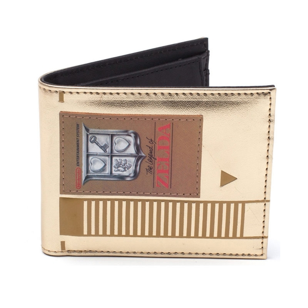 Nintendo - Legend Of Zelda Cartridge Men's Bi-Fold Wallet - Gold