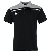 Sondico Precision Polo Adult Small Black/Charcoal