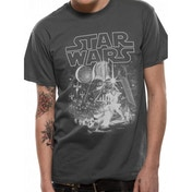 Star Wars - Classic New Hope Men's XX-Large T-Shirt - Grey