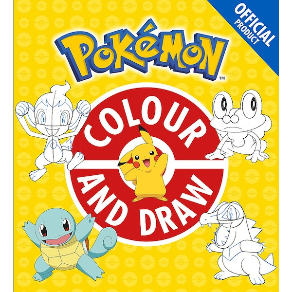The Official Pokémon Colour and Draw Paperback - 12 July 2018