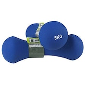 UFE Bone Dumbbells Neoprene Covered 5.0kg Blue