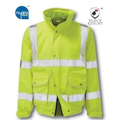 Black Knight X-Large Scimitar High Visibility Breathable Bomber Jacket - Yellow