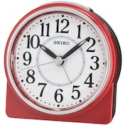 Seiko QHE137R Beep Alarm Clock with Snooze Red