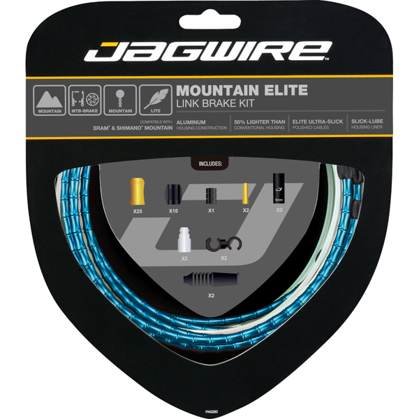 Jagwire Mountain Elite Link Brake Kit Blue