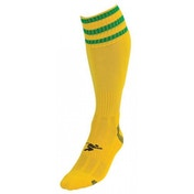 PT 3 Stripe Pro Football Socks Mens Yellow/Green