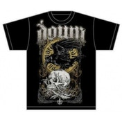Down Swamp Skull Mens T Shirt: Black XX-Large