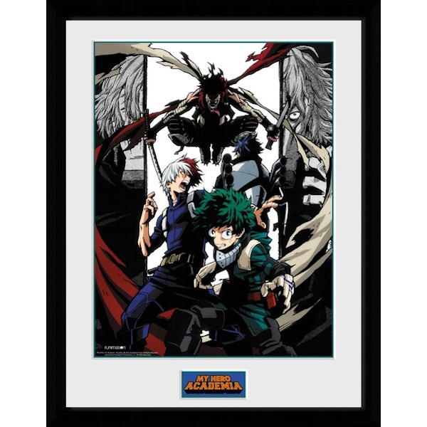 My Hero Academia Heroes and Villains Framed Collector Print