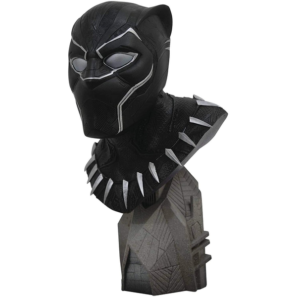 Diamond Select Toys Legends In 3D Marvel Avengers 3 Black Panther 1/2 Scale Bust