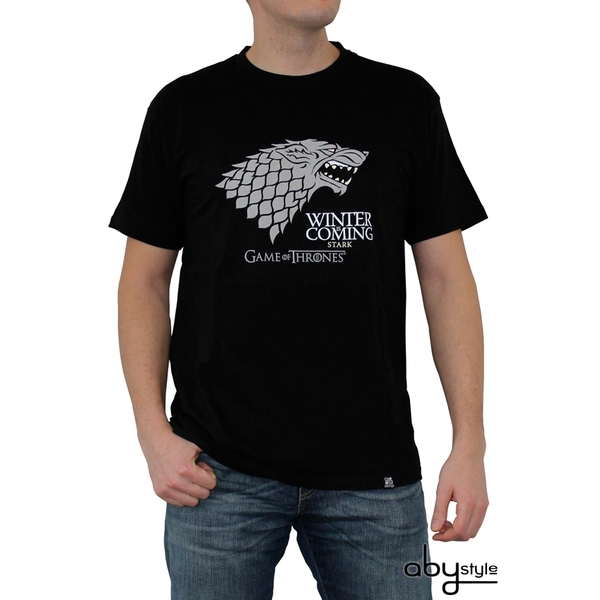 Game Of Thrones - Winter Is Coming Men's XX-Large T-Shirt - Black