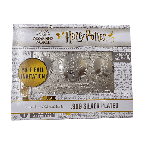 Harry Potter Yule Ball Silver Plated Ticket