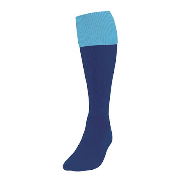 Precision Navy/Sky Turnover Football Socks UK Size 3-6