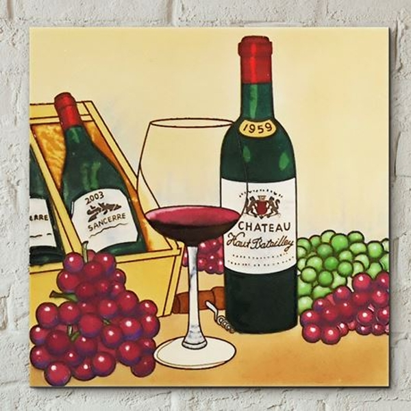 Tile 8x8 Vintage Wine By B B Wall Art