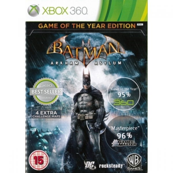 (Pre-Owned) Batman Arkham Asylum Game Of The Year Edition (GOTY) Game (Classics) Xbox 360 Used - Like New