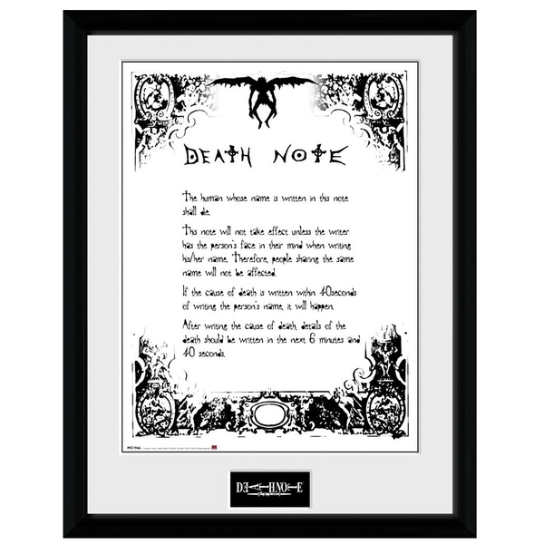 Death Note Death Note Collector Print
