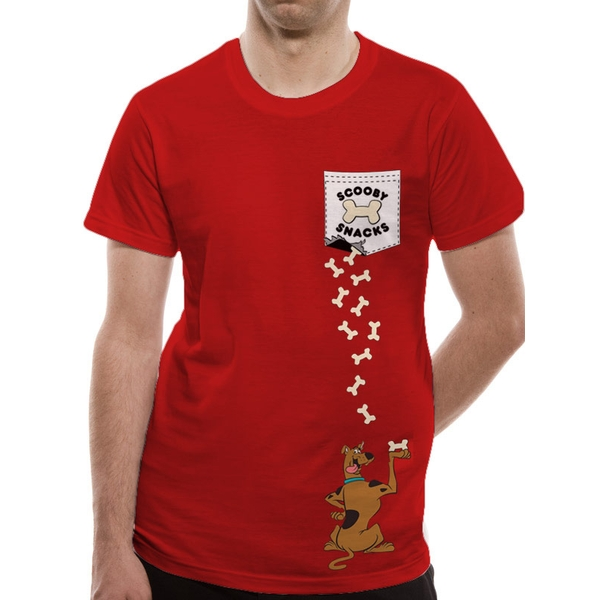 Scooby Doo - Scooby Pocket Men's Small T-Shirt - Red