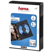 Hama Slim DVD Jewel Case, pack of 5, black