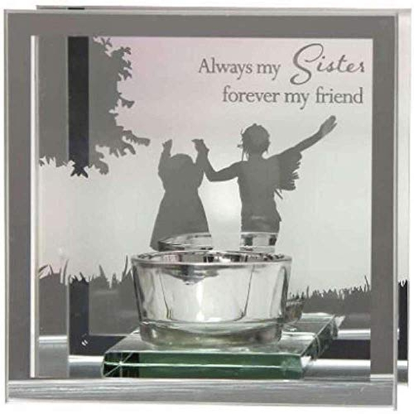 Reflections Of The Heart Mirror Tealight Holder - Sisters