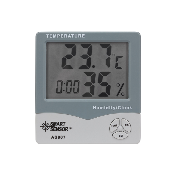 Precision Gold Digital Humidity Temperature and Time Monitor